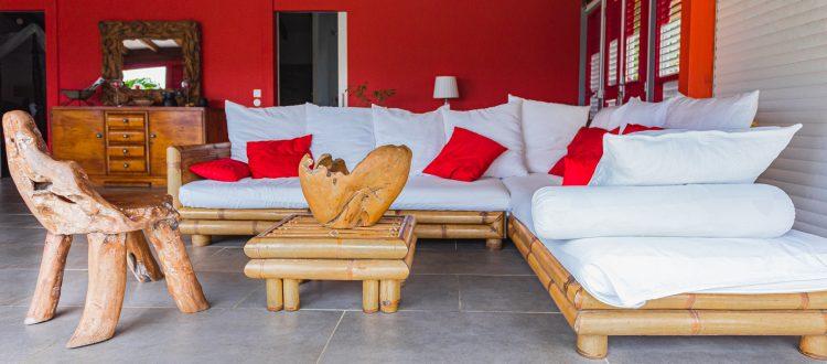 Palmier Séjour | Villas Ti Créole | Location Deshaies