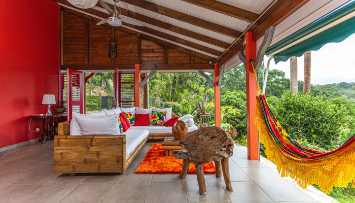Palmier terrasse | Villas Ti Créole | Location Vacances Guadeloupe