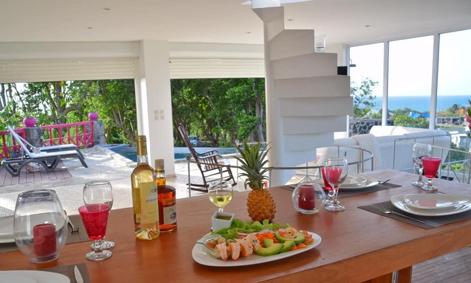 Villa A Ciel Ouvert déjeuner