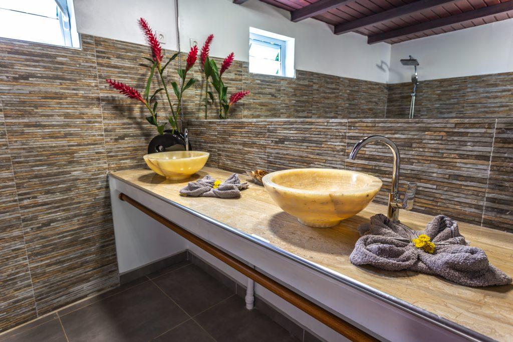 Gite Arbre à Pin salle de bains Vacances en Guadeloupe